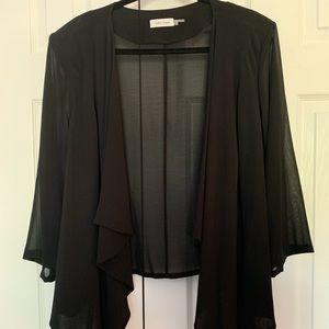 Gorgeous Calvin Klein sheer draped jacket. EUC 3x